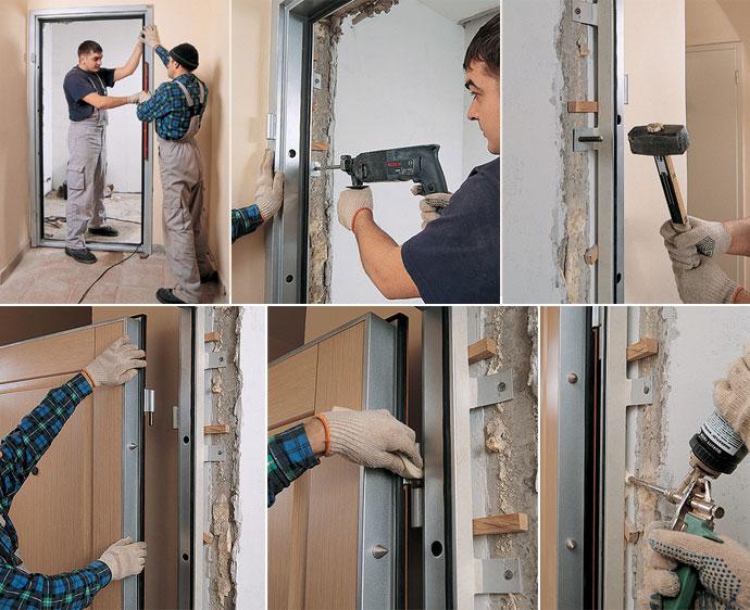 Какие анкера нужны для установки входной двери?