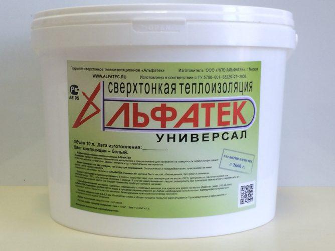 Вариант жидкой теплоизоляции