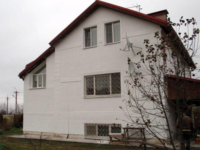 Стены, покрытые жидкой теплоизоляцией