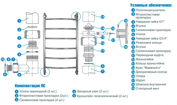 Как подключить полотенцесушитель