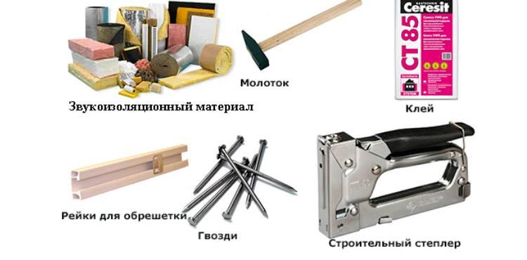 Материалы и инструменты для шумоизоляции