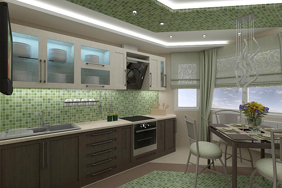 Кухонный фартук мозаика