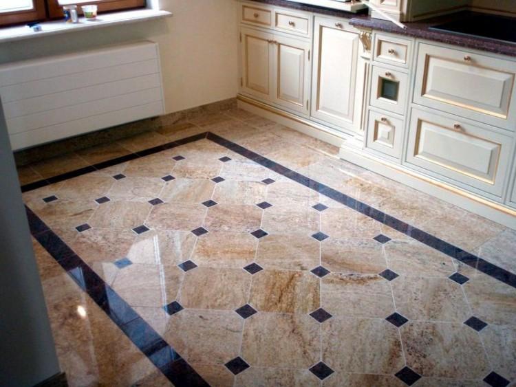 Плиточный пол на кухне