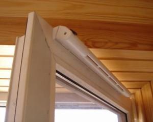 Система проветривания на пластиковых окнах