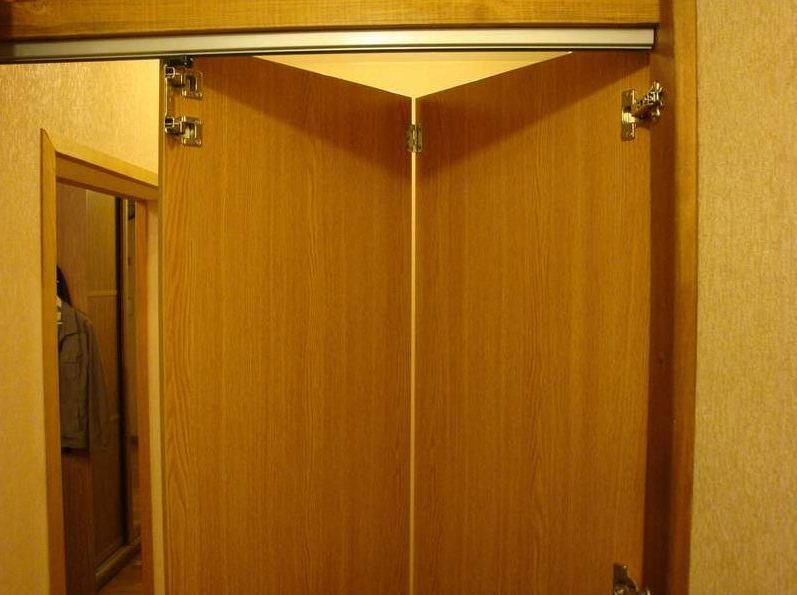 Как изготовить двери гармошка своими руками