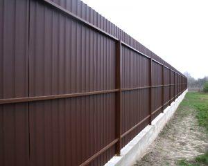 Забор на фундаменте