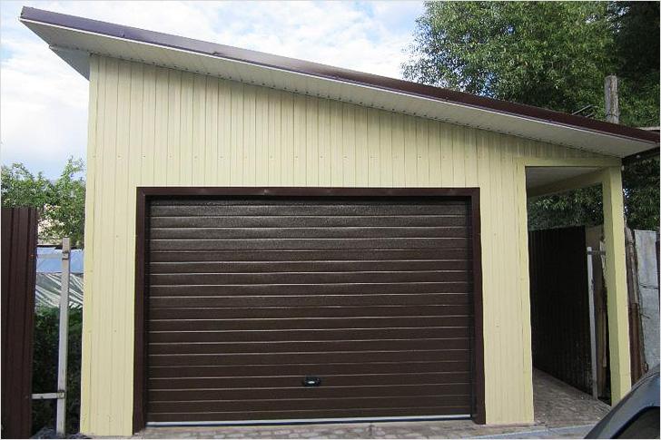 Крыша на гараж из профнастила односкатная своими руками