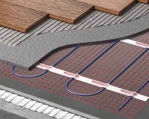 Электрический кабель в полу