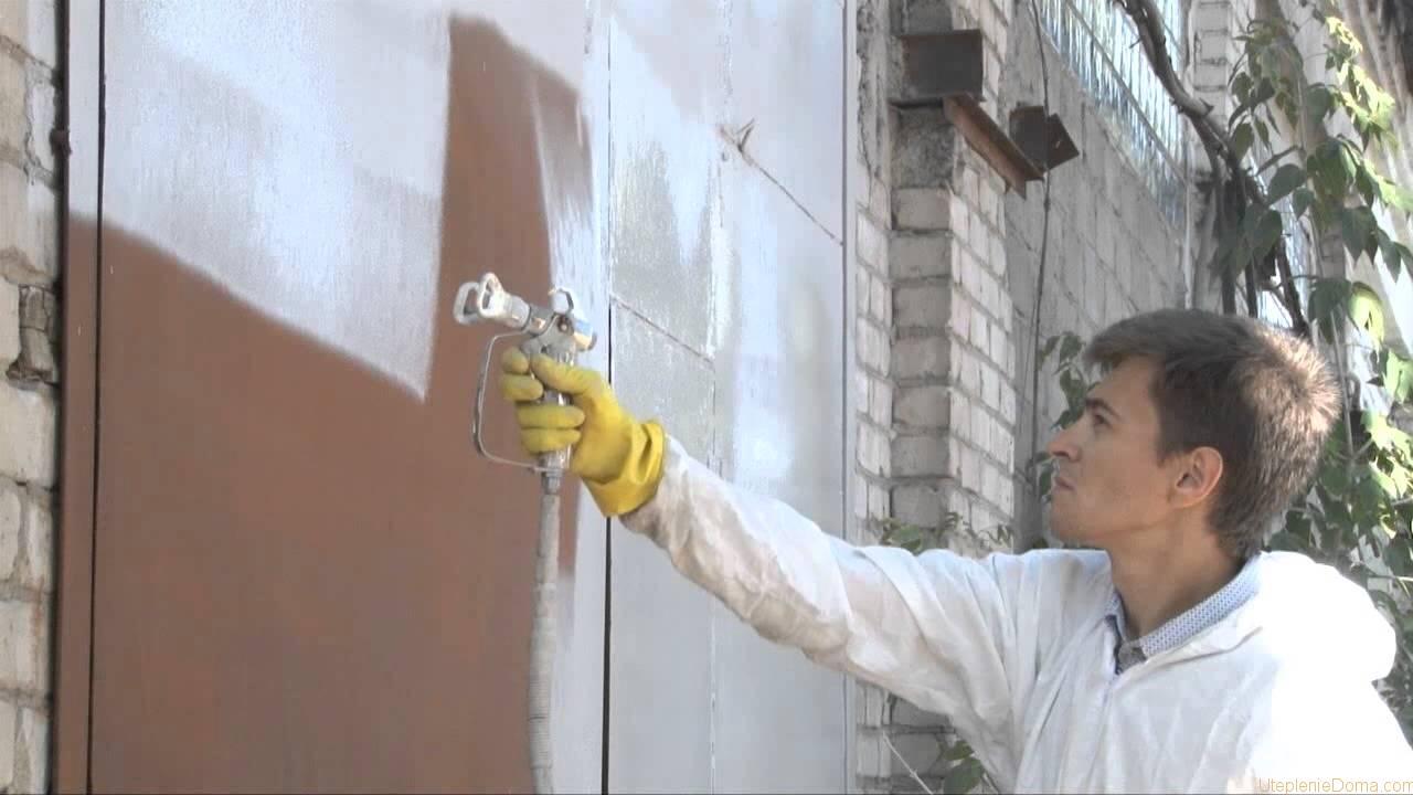 Жидкий утеплитель для стен своими руками